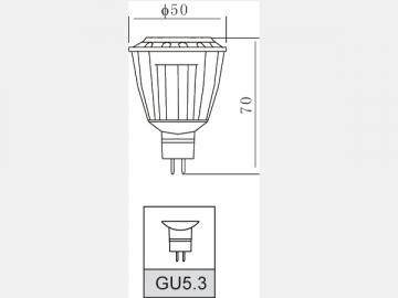 Aluminum 8W LED Spotlight