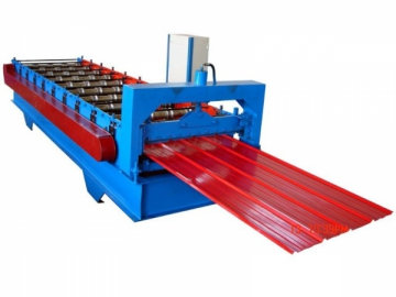 Flat Corrugated Steel Sheet Roll Forming Machine