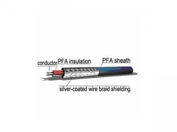 3×0.14mm2 PFA Sheath Shielded Cable