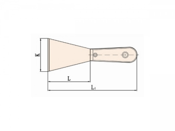 204C Non Sparking Putty Knife with Wooden Handle