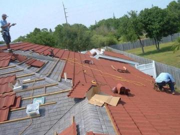 Steel Roof Tile Installation
