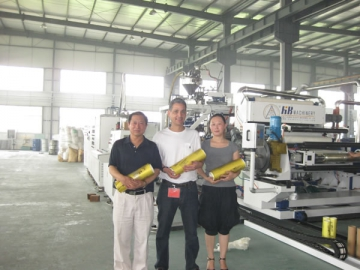 1200-1800mm PVC Cling Film Extrusion Line with Double Shaft Winder