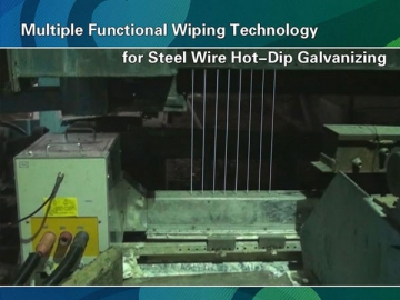 Electromagnetic Field and Gas Wiping Equipment for Steel Wire Hot-Dip Galvanizing Lines