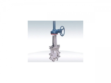 PZ573 Bevel Gear Knife Gate Valve  <small>(Double Clip Type) </small>