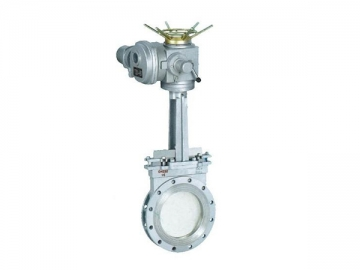 PZ973 Electric Knife Gate Valve<small>(Double Clip Type)</small>