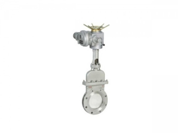 PZ973 Electric Knife Gate Valve