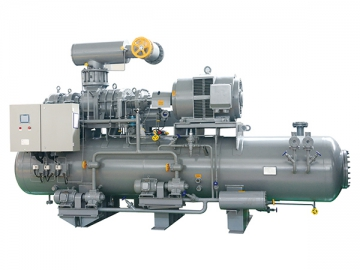 Compound Two-Stage Screw Compressor Package