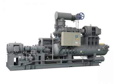 Skid Mounted Two-Stage Screw Compressor Package
