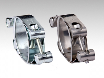 Heavy Duty Bolt Clamp <small>(with Double Band)</small>