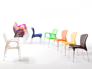 Aluminum Frame Plastic Chair