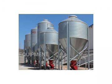 Feed Bins and Feed Conveying System