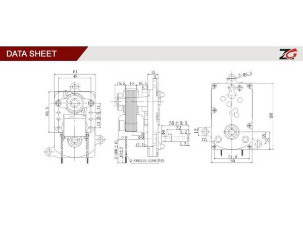 Shaded Pole Ac Geared Motor Yj61 16 Zhuogao