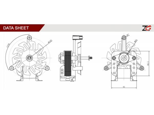 Small Type Oven Fan Motor Yj61 20 Zhuogao