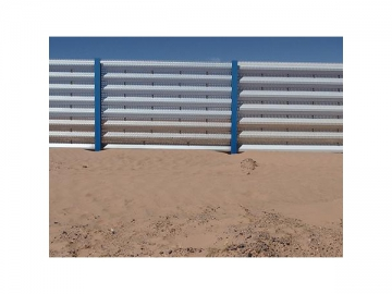 Sand fence for desert
