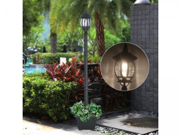 Landscape Solar Powered LED Lighting Cast Aluminum Pole Light, ST6220HP LED Light