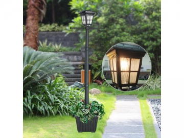 Cast Aluminum Flat Top Lantern Solar Powered LED Post Light, ST4310HP-A LED Light