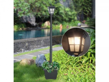 Outdoor LED Post Light with Cast Aluminum Planter, ST4311AHP-A LED Light