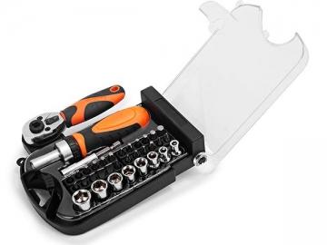 35 pc Stubby Ratchet Tool Set