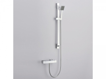 Chrome Thermostatic Mixer Shower Valve (for 9 Inch Overhead and 3 Inch Handheld Shower System)