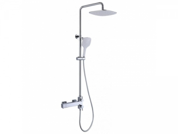 Chrome Thermostatic Mixer Shower Valve (for 10 Inch Overhead and 6 Inch Handheld Shower System)