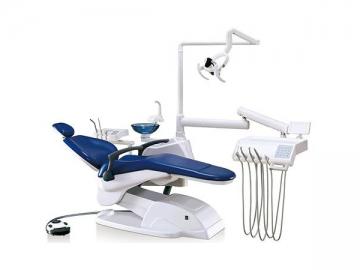 A880 Dental Chair Unit  (electric dental chair, handpiece, rotating cuspidor, LED light)