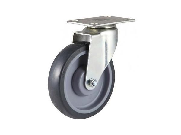 60~100kg High Strength Rubber Wheel Swivel Caster
