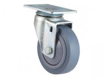80~120kg High Strength Rubber Wheel Swivel Caster