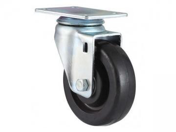 50~100kg Conductive Rubber Wheel Swivel Caster
