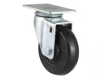 40~105kg Soft Rubber Wheel Swivel Caster