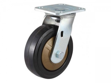 250~400kg High Class Nylon Core Rubber Wheel Caster