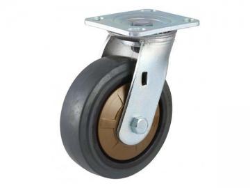 250~400kg Super Mute Nylon Core Rubber Wheel Caster