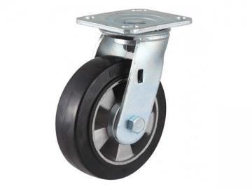 250-400kg Aluminum Core Rubber Wheel Caster