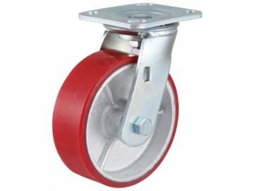 280-420kg Iron Core Polyurethane Wheel Caster