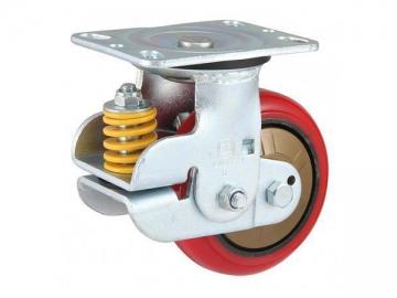 280-420kg Shock Absorbing Polyurethane Wheel Caster