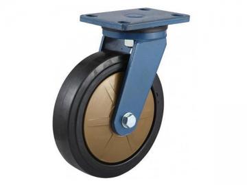 250~400kg Nylon core high-class rubber Wheel Caster
