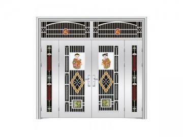 Residential Stainless Steel Entry Door