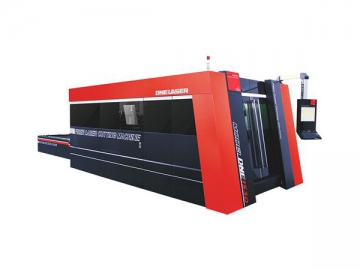 4000W High Power Fiber Laser Cutting System Metal Cutting Machine
