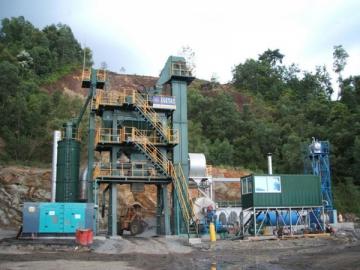 Asphalt Plant 80t/h, Item AMP1000-C 1000kg per batch mixing system