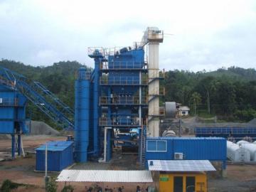 Asphalt Plant 180t/h, Item AMP2500-C 2500kg per batch mixing system