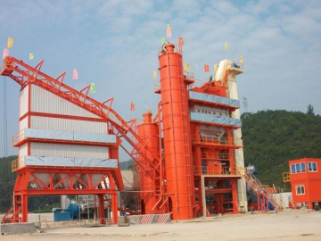 Asphalt Plant 400t/h, Item AMP5000-C 5300kg per batch mixing system