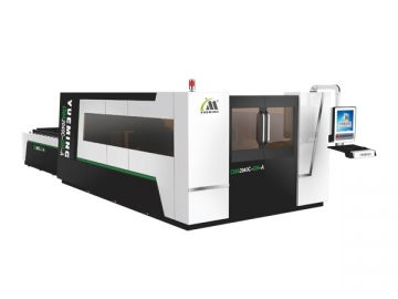 2000×4000mm Large Format Fiber Laser Cutter with Protective Cover, CMA2040C-GH-A Laser Cutting System