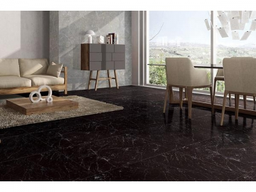 Jet Black Marble Tile  (Ceramic Floor Tile, Wall Ceramic Tile, Interior and Exterior Ceramic Tile)