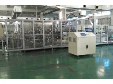 Automatic Wet Wipe Production Line with Stacking Station(Wet wipe cutting, folding, stacking, packing and sealing line)