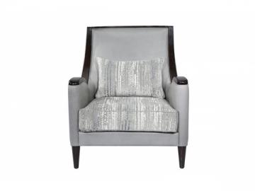 Wood Frame Leather Sofa Chair