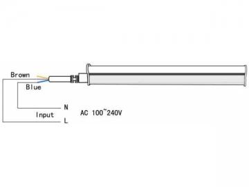 Integrated High CRI Flicker Free T5 LED Tube Light