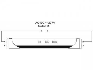 High CRI Flicker Free T8 LED Tube Light