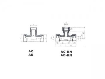 AC/AD Metric Male Hose Adapter