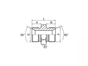 1B BSP Male 60° Cone Hose Adapter