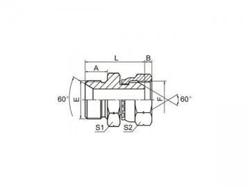 2B BSP Male 60° Hose Adapter