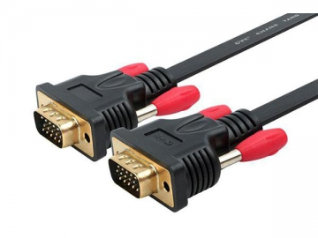 15-Pin VGA Cable, Flat Cable for Computer and TV